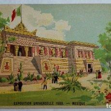 Postales: POSTAL PUBLICIDAD, VINO DE BUCEAUD, TONICO-NUTRITIVO, EXPOSICION UNIVERSAL 1889, MEXICO. Lote 104079847