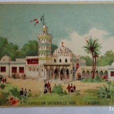 Postales: POSTAL PUBLICIDAD, VINO DE BUCEAUD, TONICO-NUTRITIVO, EXPOSICION UNIVERSAL 1889, ARGELIA. Lote 104081499