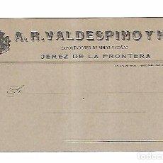 Postales: TARJETA POSTAL PUBLICITARIA. VALDESPINO. JEREZ DE LA FRONTERA. RARA. Lote 104254107