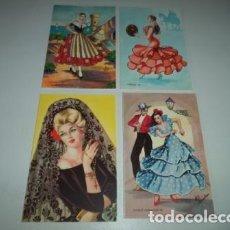 Postales: 4 POSTALES ANTIGUAS. Lote 104358615