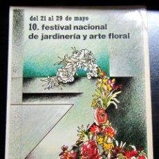 Postales: POSTAL POST CARD PUBLICIDAD FESTIVAL NACIONAL DE JARDINERIA Y ARTE FLORAL EN ZARAGOZA 1983 FERIA. Lote 104407847