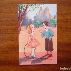 Postales: POSTAL COMICA CON PUBLICIDAD DE LA ORQUESTA GALATEA - SERIE 815/8 - PERFECTO ESTADO. Lote 104459823