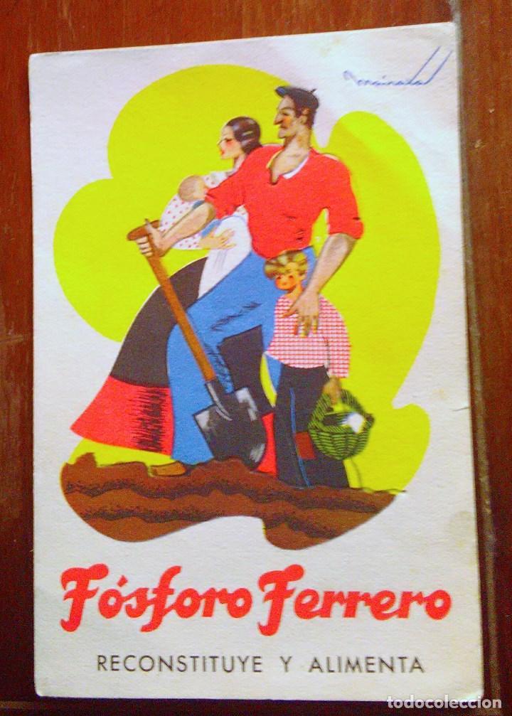 Postales: Tarjetas postales Fósforo Ferrero. Serie 1 - nº 1 a 4. Y serie 2 - nº 1, 2 y 4. Años 40 - Foto 3 - 104775279