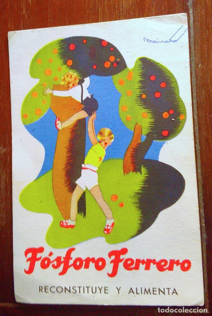 Postales: Tarjetas postales Fósforo Ferrero. Serie 1 - nº 1 a 4. Y serie 2 - nº 1, 2 y 4. Años 40 - Foto 5 - 104775279