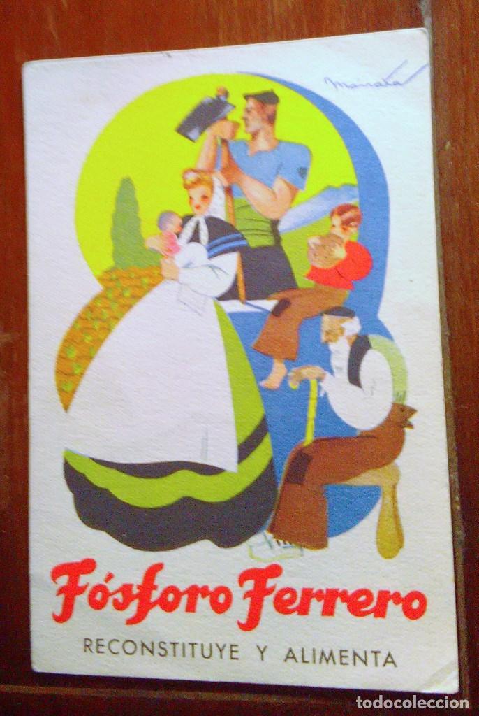 Postales: Tarjetas postales Fósforo Ferrero. Serie 1 - nº 1 a 4. Y serie 2 - nº 1, 2 y 4. Años 40 - Foto 6 - 104775279