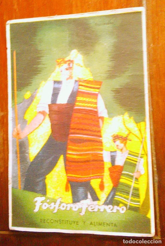 Postales: Tarjetas postales Fósforo Ferrero. Serie 1 - nº 1 a 4. Y serie 2 - nº 1, 2 y 4. Años 40 - Foto 7 - 104775279