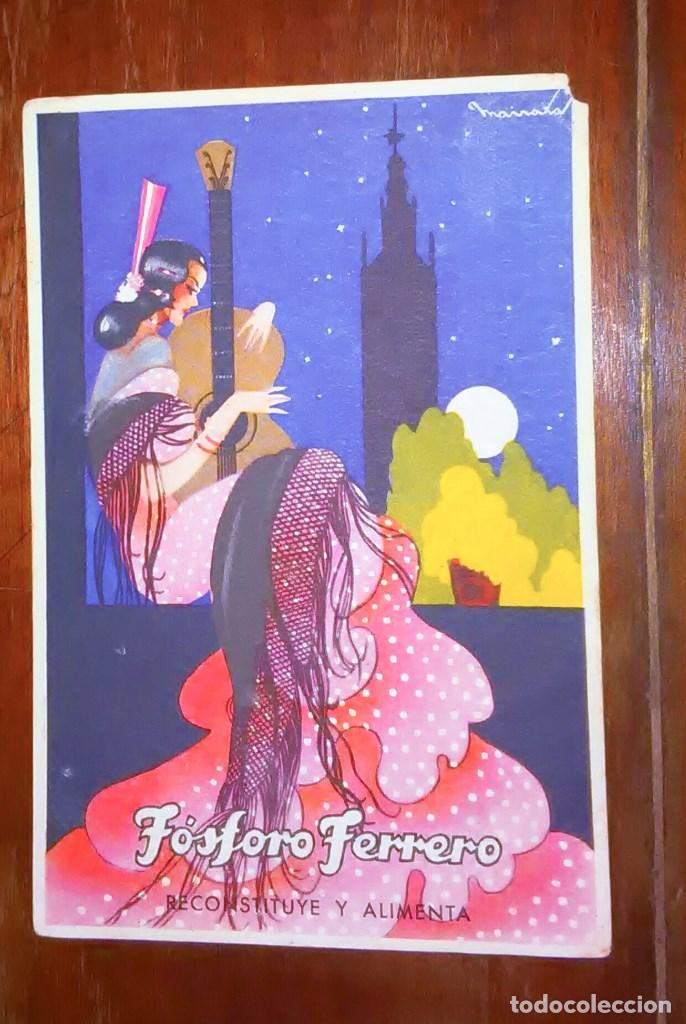 Postales: Tarjetas postales Fósforo Ferrero. Serie 1 - nº 1 a 4. Y serie 2 - nº 1, 2 y 4. Años 40 - Foto 8 - 104775279