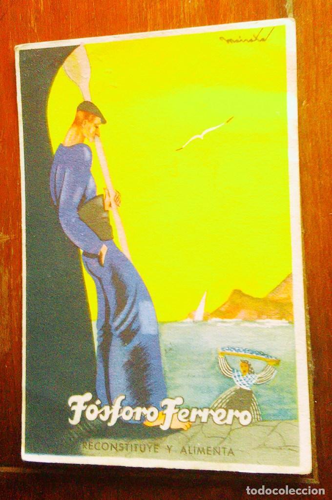 Postales: Tarjetas postales Fósforo Ferrero. Serie 1 - nº 1 a 4. Y serie 2 - nº 1, 2 y 4. Años 40 - Foto 9 - 104775279