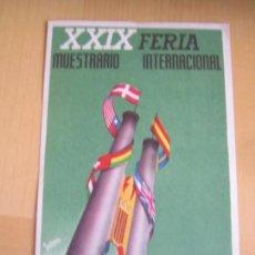 Postales: XXIX FERIA MUSTRARIO INTERNACIONAL VALENCIA MAYO 1951 POSTAL ORIGINAL ANTIGUA PERFECTO ESTADO. Lote 105257323