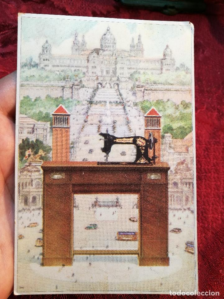 POSTAL PUBLICITARIA MAQUINAS DE COSER Y BORDAR WERTHEIM-SIN CIRCULAR (Postales - Postales Temáticas - Publicitarias)