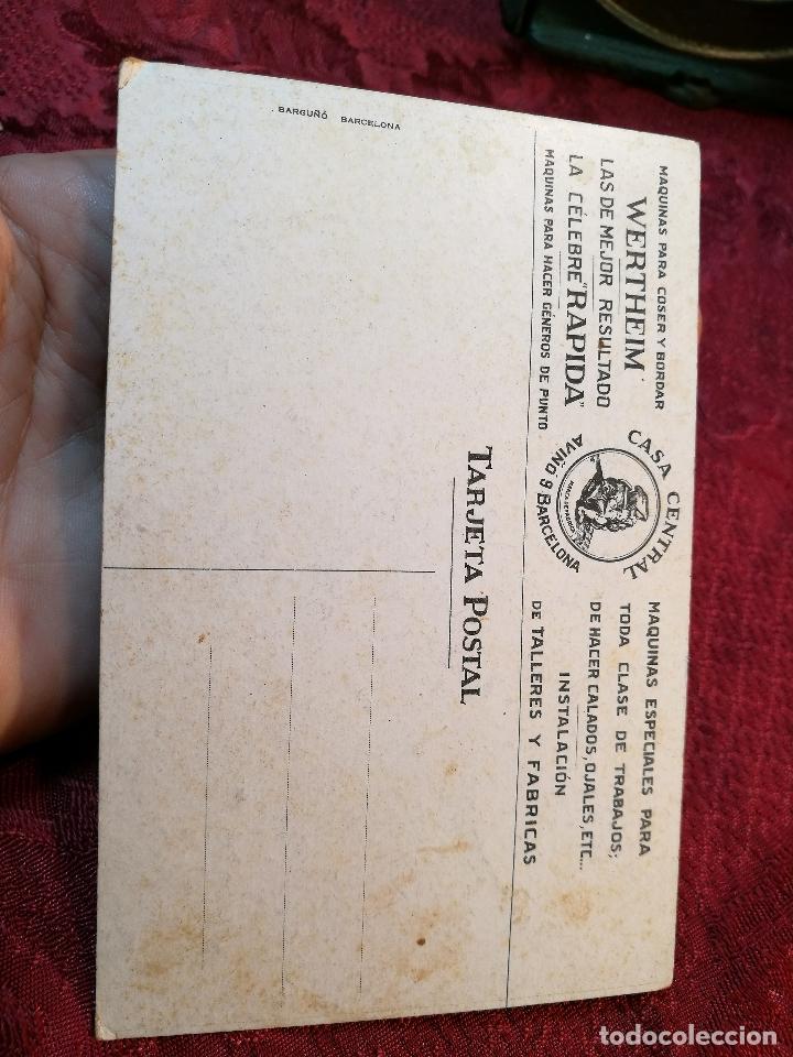 Postales: POSTAL PUBLICITARIA MAQUINAS DE COSER Y BORDAR WERTHEIM-sin circular - Foto 2 - 105717471