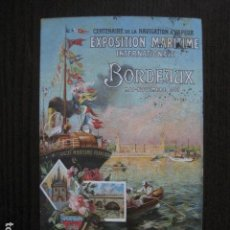 Postales: CENTENARIO NAVEGACION VAPOR-BORDEAUX 1907- POSTAL PUBLICITARIA ANTIGUA -VER FOTOS - (51.149)). Lote 105933651