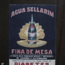 Postales: AGUA SELLARIM - FARMACIA - POSTAL PUBLICITARIA ANTIGUA- PUBLICIDAD -VER FOTOS - (51.150). Lote 105933899