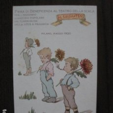 Postales: FIERA DI BENEFICENZA -TEATRO SCALA- AÑO 1900 - POSTAL PUBLICITARIA ANTIGUA- VER FOTOS - (51.156). Lote 105934963