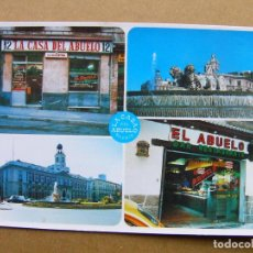 Postales: POSTAL BAR RESTAURANTE LA CASA DEL ABUELO Nº 1 - MADRID ( SIN CIRCULAR ). Lote 105957183