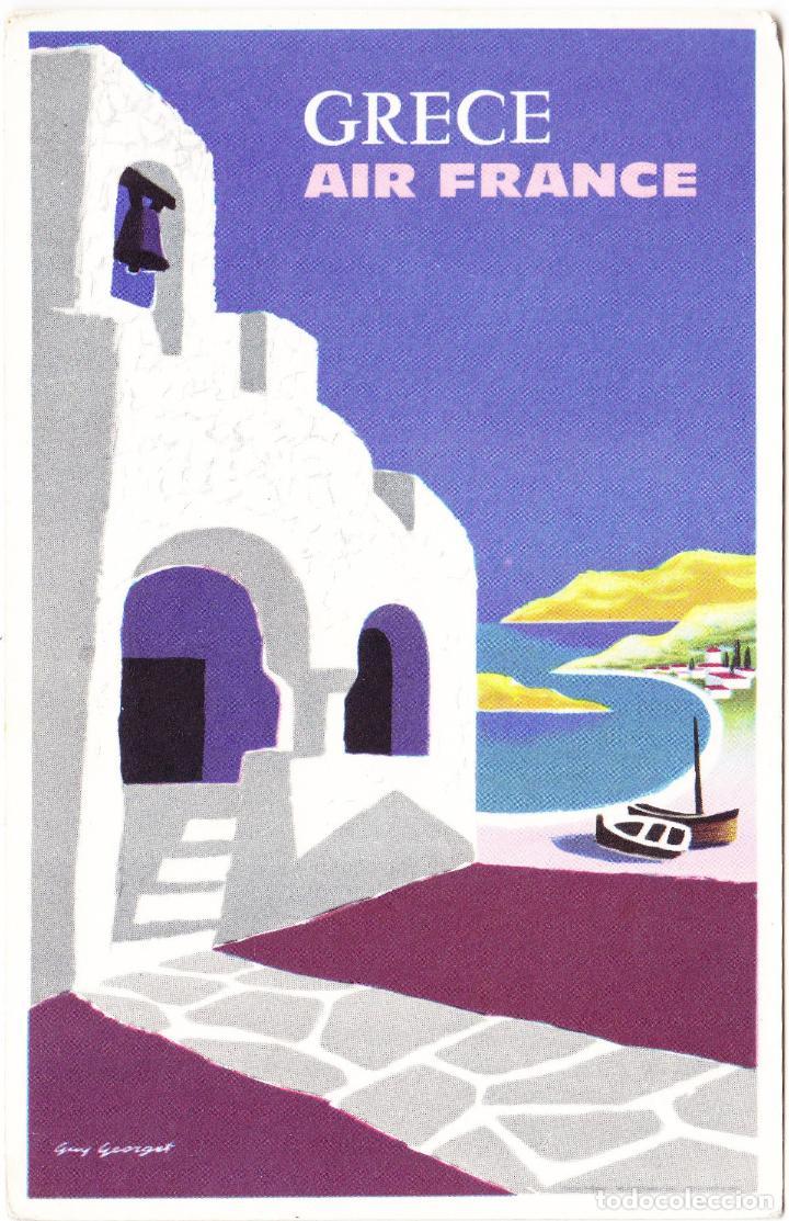 POSTAL PUBLICIDAD AIR FRANCE - GRECE GRECIA (Postales - Postales Temáticas - Publicitarias)