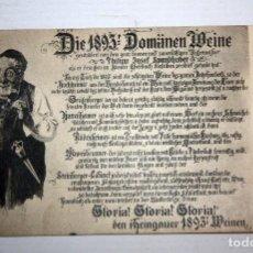 Postales: ANTIGUA POSTAL DE VINOS - 1893 - RHEINGAUGER WEINEN.. Lote 107191095