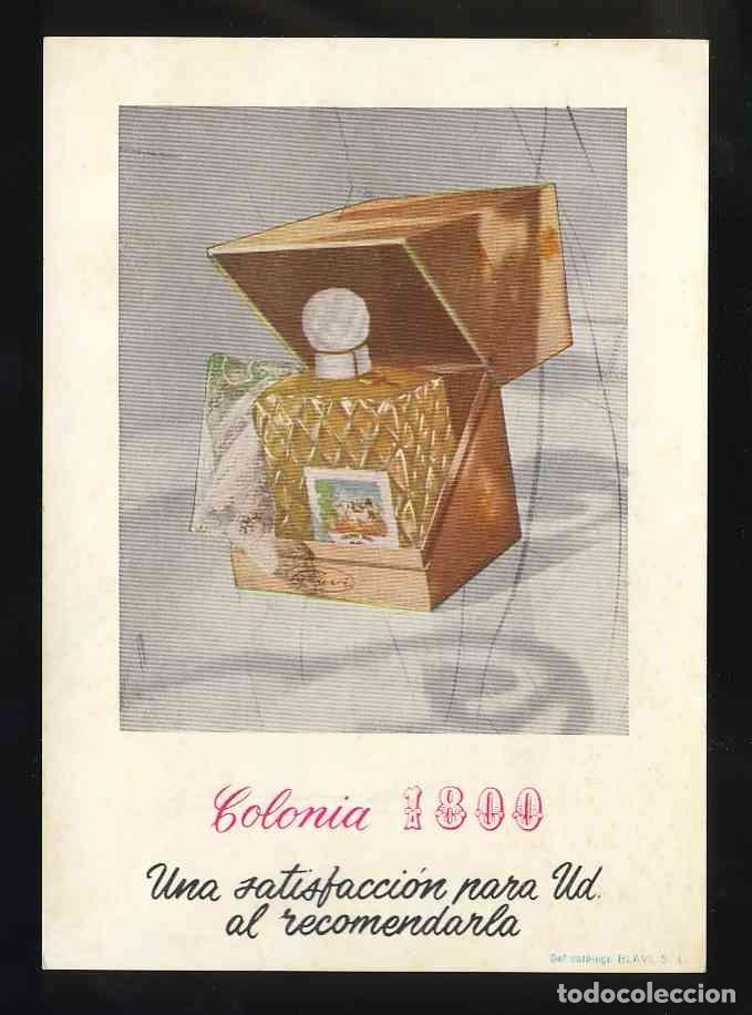 POSTAL PUBLICITARIA: COLONIA 1800. PERFUME, PERFUMERIA (Postales - Postales Temáticas - Publicitarias)
