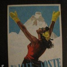 Postales: VALLEE D´AOSTE - POSTAL PUBLICITARIA- ESQUI - VER REVERSO - (51.252). Lote 107677235