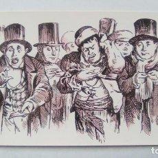 Postales: POSTAL JUGADORES MIRANDO LA LISTA DE LA LOTERIA. 1866. DIRECCION GENERAL DE TRIBUTOS ESPECIALES. Lote 107729655