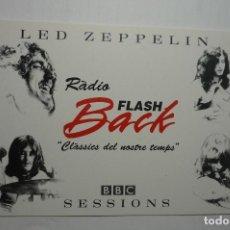 Postales: POSTAL EMISORA RADIO FLASH BACK -LED ZEPPELIN. Lote 107827379