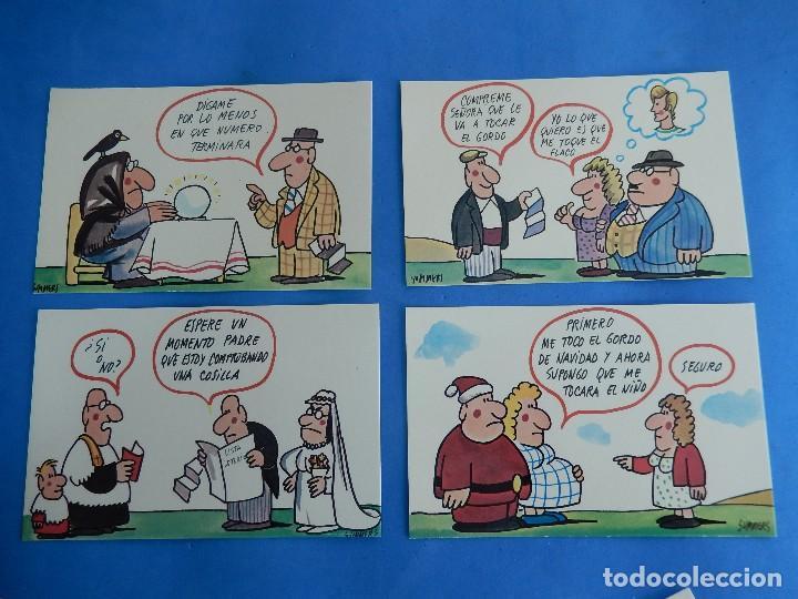 Postales: Lotería Nacional. Colección de tarjetas postales. Serie J. Dibujos de Sumer. - Foto 2 - 108216063