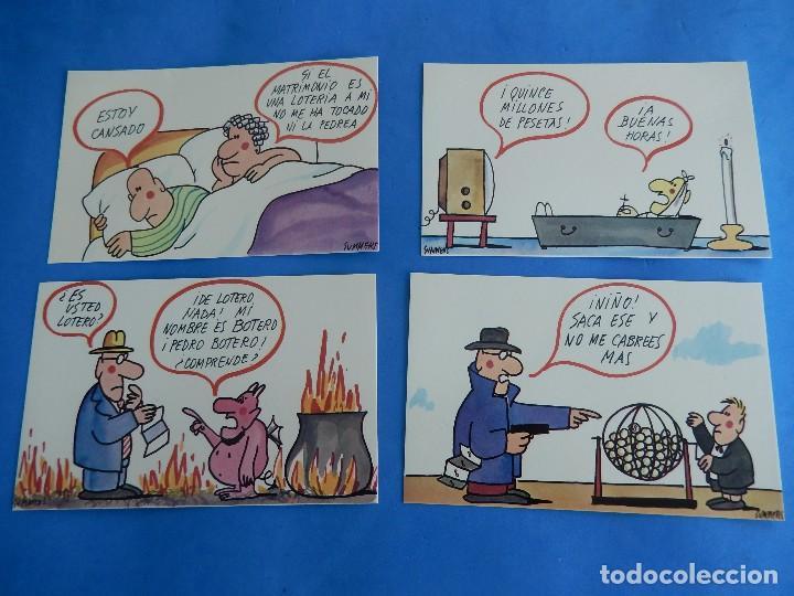Postales: Lotería Nacional. Colección de tarjetas postales. Serie J. Dibujos de Sumer. - Foto 3 - 108216063
