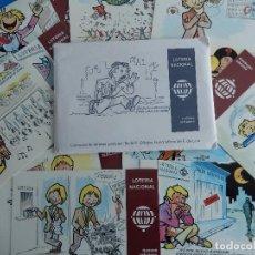 Postales: LOTERÍA NACIONAL. COLECCIÓN DE TARJETAS POSTALES. SERIE K. DIBUJOS DE E. DE LARA.. Lote 108216579