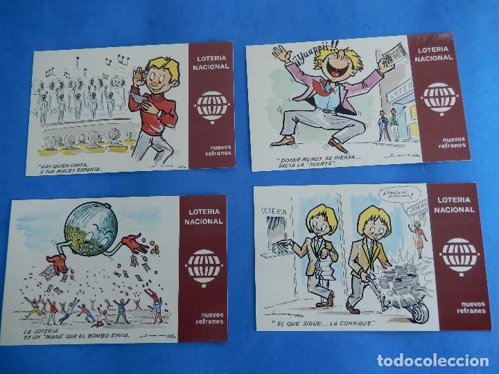Postales: Lotería Nacional. Colección de tarjetas postales. Serie K. Dibujos de E. de Lara. - Foto 3 - 108216579