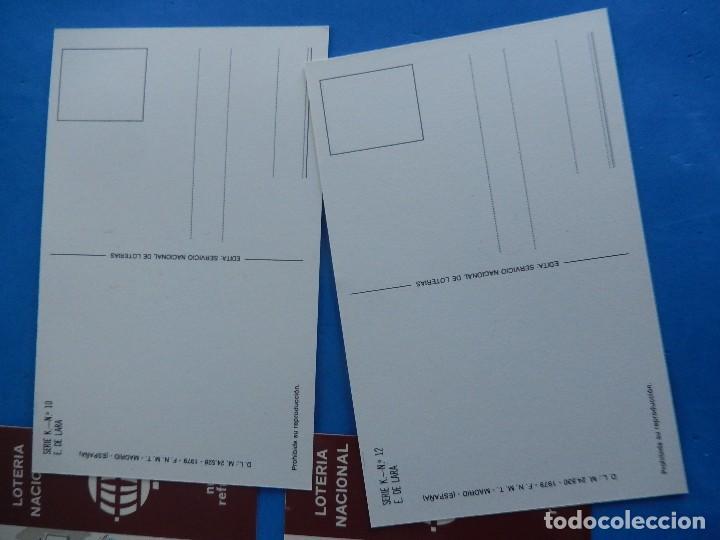 Postales: Lotería Nacional. Colección de tarjetas postales. Serie K. Dibujos de E. de Lara. - Foto 5 - 108216579