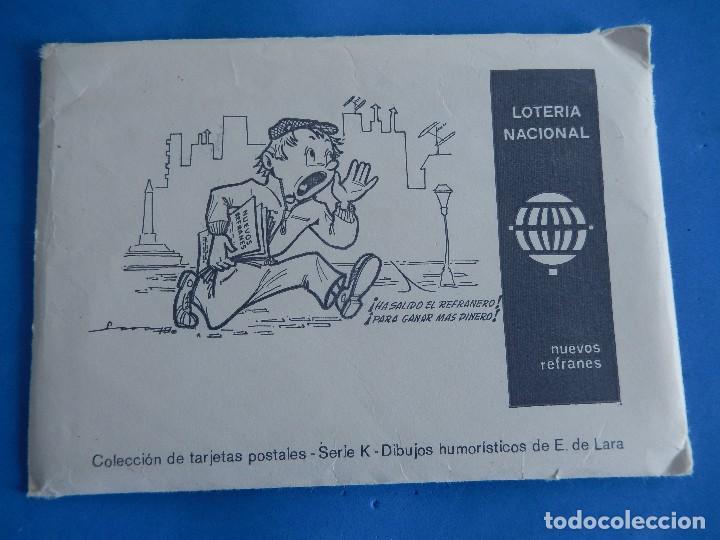Postales: Lotería Nacional. Colección de tarjetas postales. Serie K. Dibujos de E. de Lara. - Foto 6 - 108216579