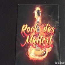 Postales: PUBLICITARIAS-V42-ROCK DAS MAIFEST. Lote 108316291
