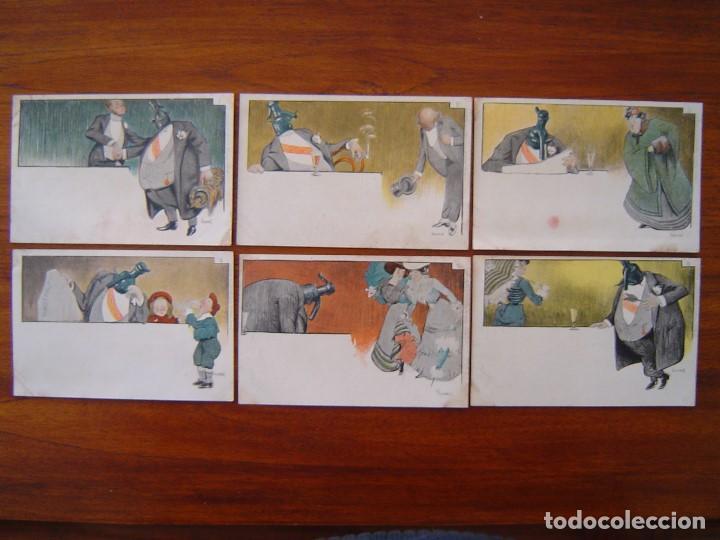 10 POSTALES DE SIFON LUSTRAL ( SERIE COMPLETA ) 1902 ILUSTRADAS POR VALLHONRAT - SIN CIRCULAR (Postales - Postales Temáticas - Publicitarias)
