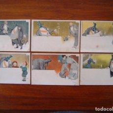 Postcards - 10 POSTALES de SIFON LUSTRAL ( SERIE COMPLETA ) 1902 ILUSTRADAS POR VALLHONRAT - sin circular - 108451355