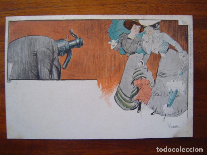 Postales: 10 POSTALES de SIFON LUSTRAL ( SERIE COMPLETA ) 1902 ILUSTRADAS POR VALLHONRAT - sin circular - Foto 11 - 108451355