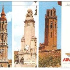 Postales: PUBLICITARIA, IBERIA, ANDORRA, MADRID, LERIDA, 1970, SIN CIRCULAR. Lote 110079631