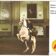 Postales: PUBLICITARIA, IBERIA, SVIENA, ESCUELA ESPAÑOLA DEEQUITACION, 1970, CIRCULADA CON SU SELLO. Lote 110079823