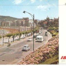 Postales: PUBLICITARIA, IBERIA, SAN SEBASTIAN, LA CONCHA, 1970, CIRCULADA CON SU SELLO. Lote 110079855
