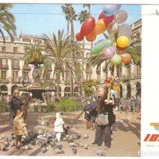 Postales: PUBLICITARIA, IBERIA, BARCELONA, 1970, CIRCULADA CON SU SELLO. Lote 110079895