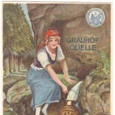 Postales: PUBLICITARIA, AGUA MINERAL GRAUHOF QUELLE, COSLAR, SIN CIRCULAR. Lote 110080215