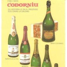 Postales: PUBLICITARIA, CASA CODORNIU, SIN CIRCULAR. Lote 110080975