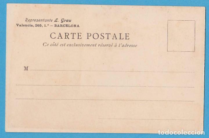 Postales: LE VIOLOU. RUEGO A VD. PRUEBE EL COGNAC BARBIER. REPRESENTANTE L. GRAU, BARCELONA. REV NO DIVIDIDO - Foto 2 - 111691135