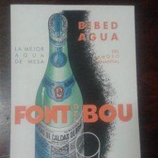 Postales: POSTAL PUBLICITARIA FONT DEL BOU. Lote 112504203
