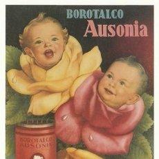 Postales: POSTAL PUBLICITARIA - BOROTALCO AUSONIA - BEBE - FLOR - Nº 2884 - ED AM ESTUDIO EDITORES - NUEVA. Lote 112524515
