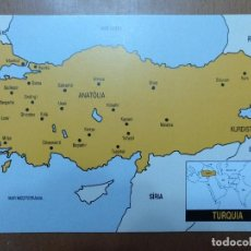 Postales: POSTAL PUBLICITARIA TIENDA ALFOMBRAS GRA (BARCELONA) Nº 5. ZONES PRODUCTORES TURQUIA . Lote 112887463