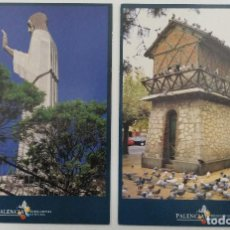 Postales: LOTE 2 POSTALES PALENCIA REENCUENTRA LA BELLEZA. Lote 112946567
