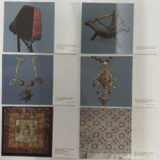 Postales: LOTE 6 POSTALES COLECCION FONDOS ETNOGRAFICOS DE CAJA ESPAÑA. Lote 112946863