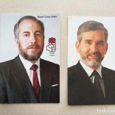 Postales: DOS POSTALES POLITICAS PSPV PSOE JOAN LERMA Y MANUEL GIRONA. Lote 112964227