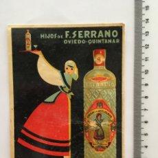 Postales: POSTAL PUBLICITARIA. ANÍS LA ASTURIANA. LITOGRAFÍA. H. 1940?. Lote 114959194