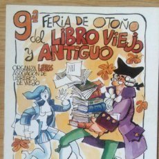 Postales: 9ª FERIA DEL LIBRO ANTIGUO - MADRID. Lote 115053475